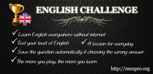 English Challenge - Learn English on Android