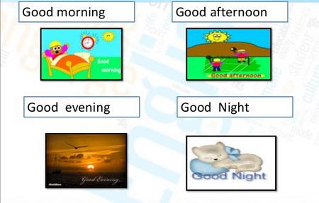 Good evening versus Good Night