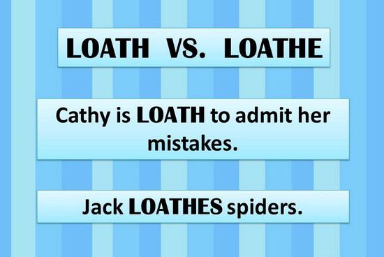 Loath vs Loathe