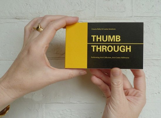 thumb through