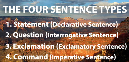 The Four Sentence Types in Eng
